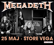 Kb billet til Megadeth