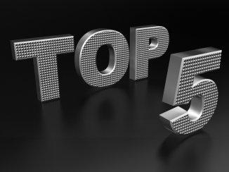 Top 5 - Årets mest populære