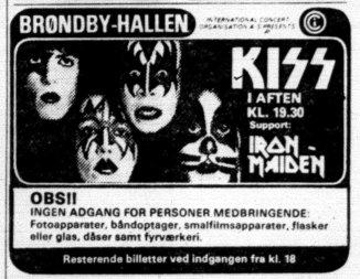 Iron Maiden i Danmark: 80'erne