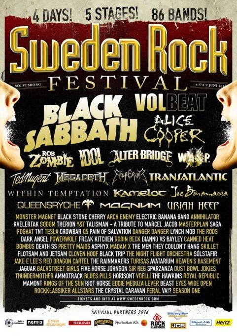 Sweden Rock Festival 2014: Guide