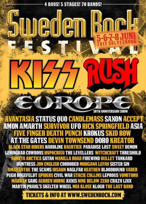 Sweden Rock Festival 2013: Guide