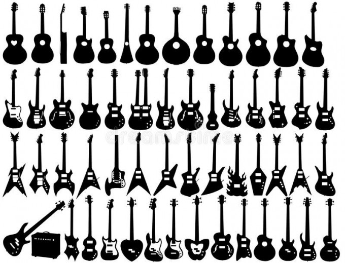 guitar-shapes-d-drawing-different-47628302